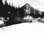 Great Northern Railway passenger train leaving the west portal of the Cascade Tunnel, ca. 1930