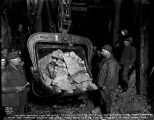 Last shovelful of muck taken out of the Pioneer Tunnel with the Marion steam shovel, December 8,...