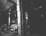 Hoist engine at the Sunset Copper Co. mine shaft, ca. 1930