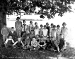 Teacher and students at Startup, September, 1929