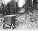 Air drill in use at the Miller Logging Company near Sultan, ca. 1930