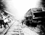 Mail train wreck at Index,  September 3, 1930