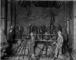 Workers drilling the bench at Camp 11, 1927
