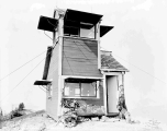 Forest fire lookout station on Benchmark Mountain, ca. 1930