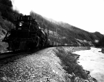 Great Northern Railway freight train east of Belton, Montana, ca. 1930