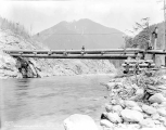 Howard Creek Bridge over the north fork of the Skykomish River, ca. 1928