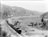Great Northern Railway freight train east bound at the Chumstick curve, March 15, 1929