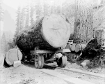 Logging truck of the Woods Logging Company, Miller River, ca. 1931