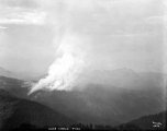 Aerial view of a forest fire at Cady Creek, ca. 1930