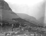Colonial Building Co. contractors building a new road in Logan Pass, ca. 1931