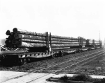 Northern Pacific Railway cars loaded with fir logs, Snohomish, ca. 1929