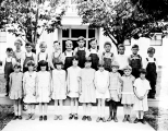 Gold Bar School children and teacher, 1930