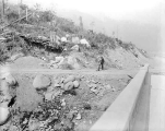 Highway construction, No Name Bridge looking west, ca. 1933