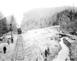 Landslide on the Great Northern Railway line, Index, January 24, 1934