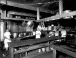 Logging camp kitchen interior, Snohomish County, ca. 1913