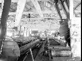 Interior of Heybrook Lumber Co. mill showing circular saws near Index, ca. 1913