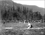 Baseball game, possibly at Skykomish, ca. 1913