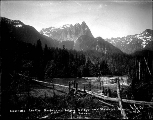 Clearwater Lumber Co.'s bridge over the Skykomish River, ca. 1911