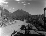 Gate along Stevens Pass Highway, Mount Baring, ca. 1926