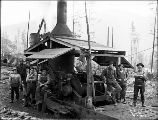 Logging crew with donkey engine, Snohomish County, ca. 1911