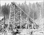 Great Northern Railroad Cascade tunnel construction, Mill Creek Camp, May 10, 1926