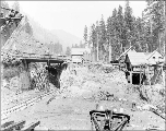 West portal construction, Scenic, July 17. 1926