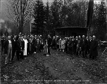 Ground breaking ceremony for the Northwest Portland Cement Co., Grotto, ca. 1926