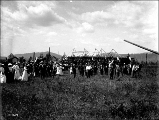 Crowd gathered for special occasion, unidentified location, ca. 1910