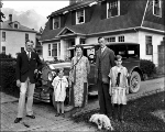 Snyder family in front of car, Index, ca. 1926