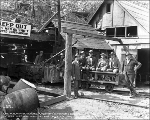 A. Guthrie Co. workers at east portal, Berne, 1926
