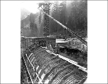 Concrete work at the west portal, Scenic, ca. 1926