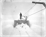Clearing snow with snowplow, Scenic, ca. 1927