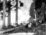 Lake Serene with campers at north end, ca. 1911