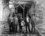 A. Guthrie and Co. bosses at the west portal, Scenic, ca. 1926