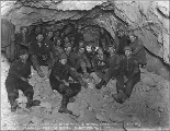 Crew responsible for the breakthrough between the east portal and the Mill Creek shaft, 1927
