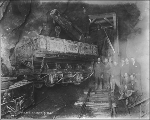 Crane at work inside the Cascade Tunnel, ca. 1927