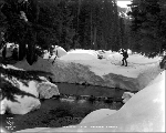 Man skiing in the Cascade Mountains, April 15, 1927