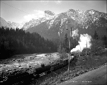 Great Northern Railway freight train, Mt. Persis, ca. 1927