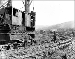 Laying track near Peshastin, ca. 1927