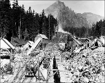 Construction work at the west portal, Scenic, ca. 1927