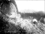 Index Granite Works after blasting rock, ca. 1911