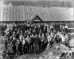Workers in the Mill Creek camp, October 21, 1927