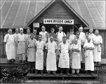 Cookhouse crew, Mill Creek, October 21, 1927