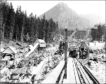 Construction at the west portal, Scenic, August 17, 1927