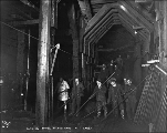 Men at work in tunnel interior, Mill Creek, ca. 1927