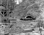 Top heading, east portal of the Winton tunnel, ca. 1927