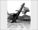 A. Guthrie and Co. steam shovel at work on the Chumstick cutoff, September 28, 1927