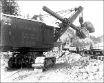 Marion steam shovel at work, September 28, 1927