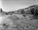 Grading the Great Northern Railway right of way at Camp 7, ca. 1928