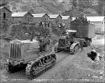 Moving equipment at Camp 15, August 5, 1927